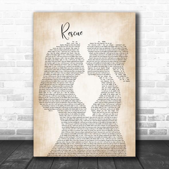 Lauren Daigle Rescue Lesbian Women Gay Brides Couple Wedding Song Lyric Art Print