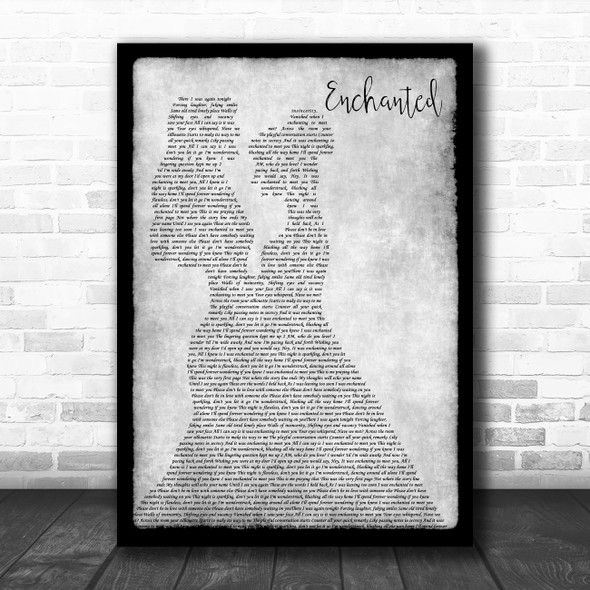 Taylor Swift Enchanted Lesbian Couple Two Ladies Dancing Grey Song Lyric Art Print