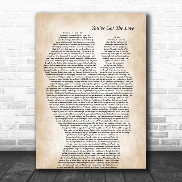 Candi Staton You've Got The Love Mother & Baby Song Lyric Art Print