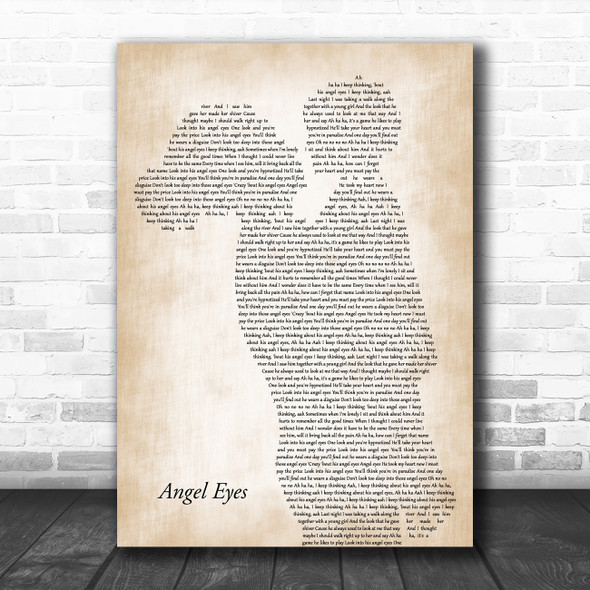 ABBA Angel Eyes Mother & Child Song Lyric Art Print