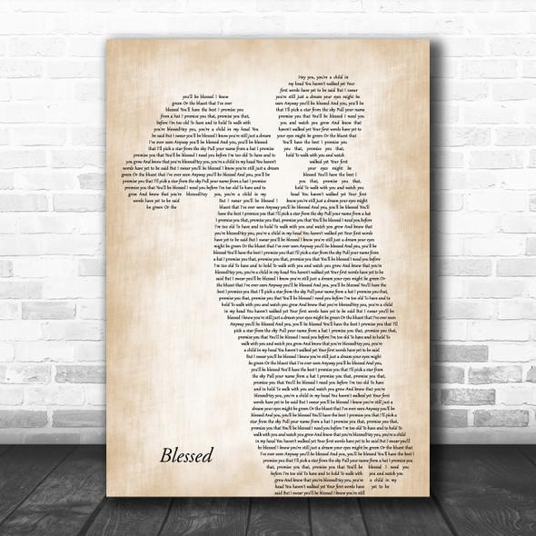 Elton John Blessed Mother & Child Song Lyric Art Print