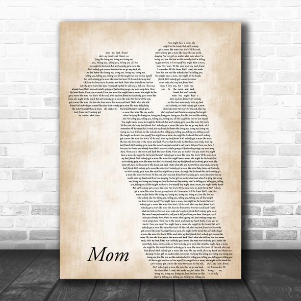 Meghan Trainor Mom Mother & Child Song Lyric Art Print