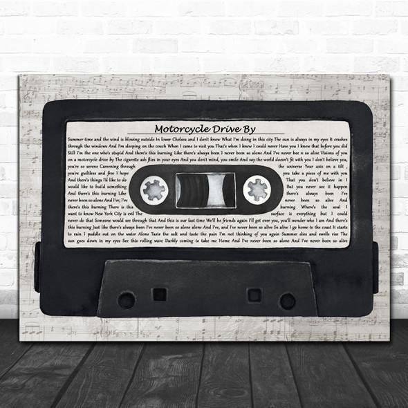 Third Eye Blind Motorcycle Drive By Music Script Cassette Tape Song Lyric Art Print