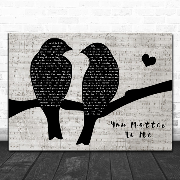 Sara Bareilles You Matter To Me Lovebirds Music Script Song Lyric Art Print