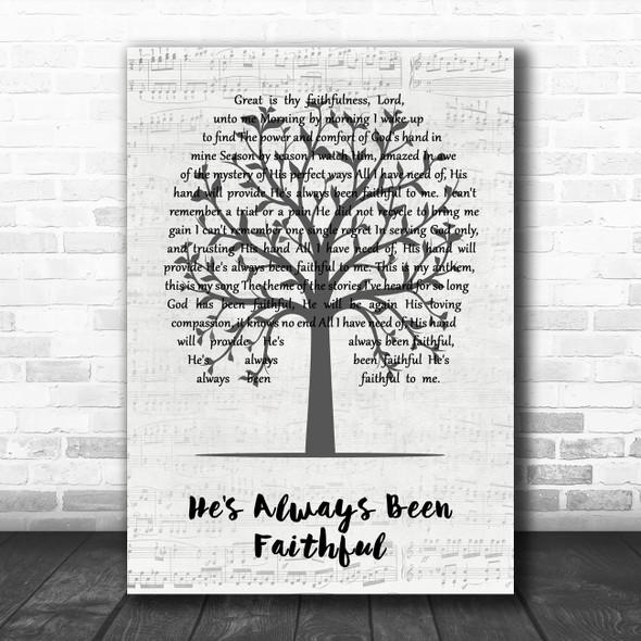 Sara Groves He's Always Been Faithful Music Script Tree Song Lyric Art Print