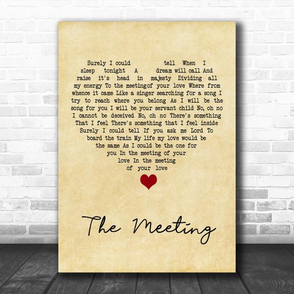 Yes - Anderson Bruford Wakeman Howe The Meeting Vintage Heart Song Lyric Art Print