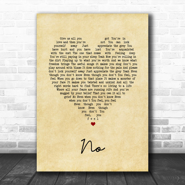 Fontaines D.C. No Vintage Heart Song Lyric Art Print