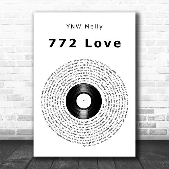 YNW Melly 772 Love Vinyl Record Song Lyric Art Print