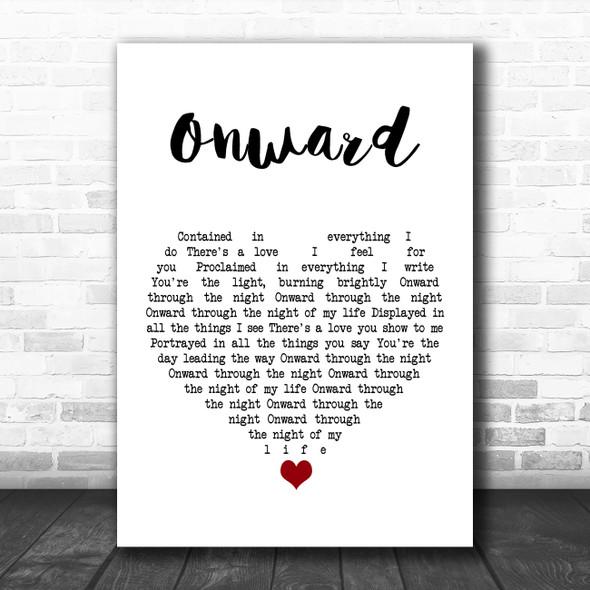 Yes Onward White Heart Song Lyric Art Print