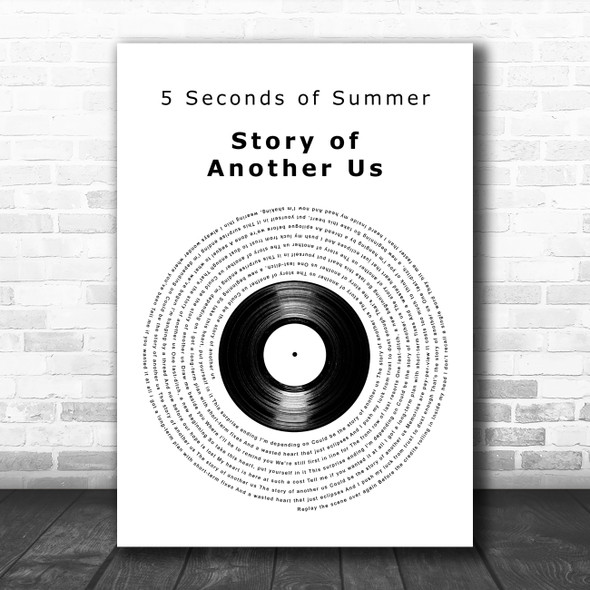 5 Seconds of Summer Story of Another Us Vinyl Record Decorative Wall Art Gift Song Lyric Print