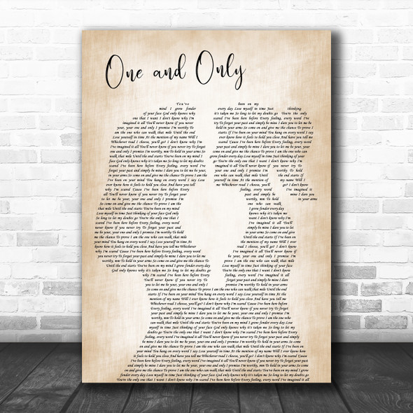 Adele One and Only Lesbian Women Gay Brides Couple Wedding Decorative Wall Art Gift Song Lyric Print