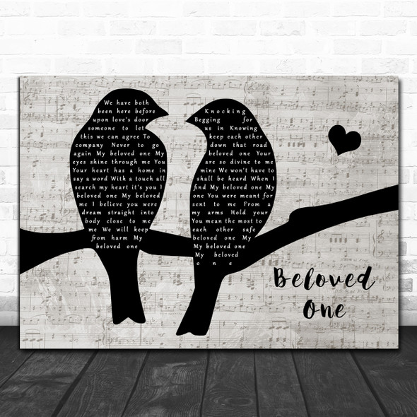 Ben Harper Beloved One Lovebirds Music Script Decorative Wall Art Gift Song Lyric Print
