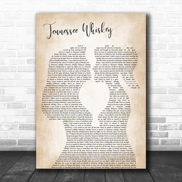Chris Stapleton Tennessee Whiskey Lesbian Women Gay Brides Couple Wedding Song Lyric Print