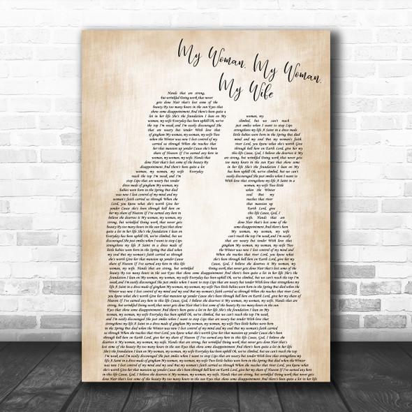 Dean Martin My Woman, My Woman, My Wife Man Lady Bride Groom Wedding Gift Song Lyric Print