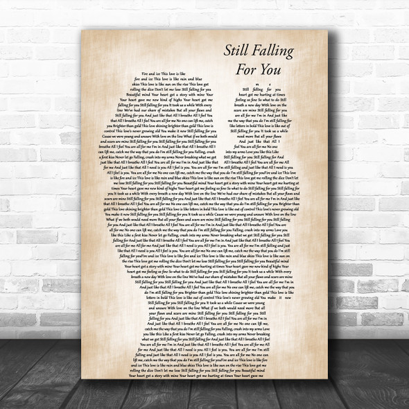 Ellie Goulding Still Falling For You# Mother & Baby Decorative Wall Art Gift Song Lyric Print