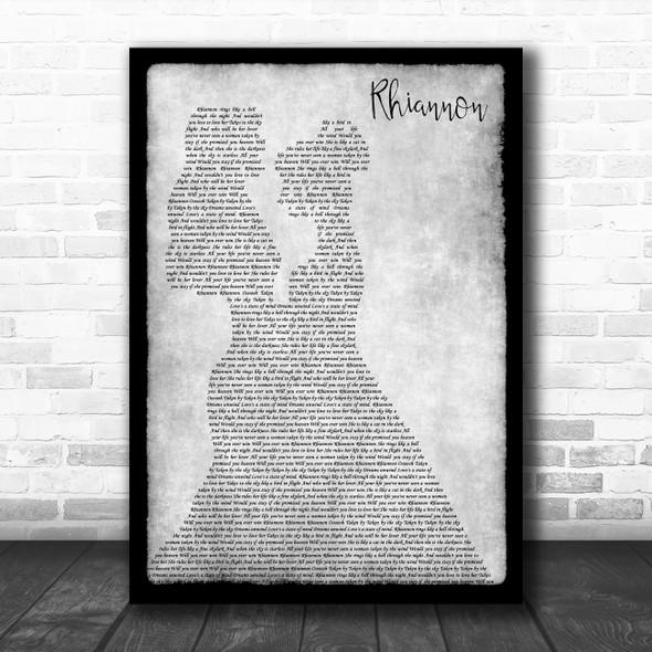 Fleetwood Mac Rhiannon Lesbian Couple Two Ladies Dancing Grey Song Lyric Print