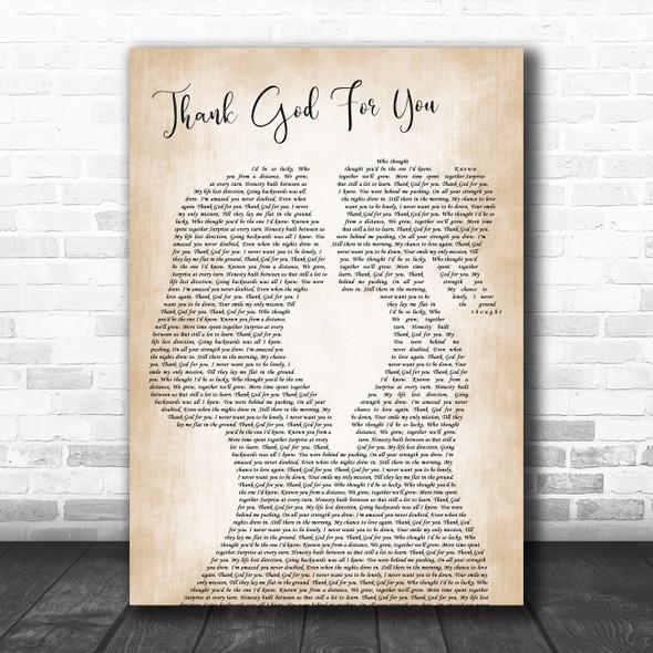 Heather Peace Thank God For You Lesbian Women Gay Brides Couple Wedding Song Lyric Print
