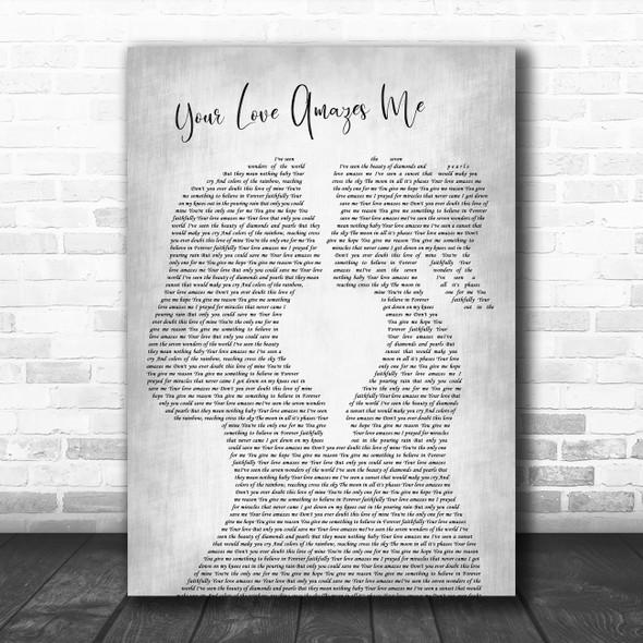 John Berry Your Love Amazes Me Lesbian Women Gay Brides Couple Wedding Grey Song Lyric Print