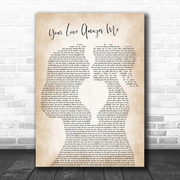 John Berry Your Love Amazes Me Lesbian Women Gay Brides Couple Wedding Song Lyric Print
