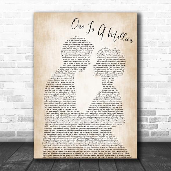 Larry Graham One In A Million Man Lady Bride Groom Wedding Decorative Gift Song Lyric Print