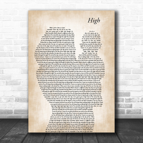 Lighthouse Family High Mother & Baby Decorative Wall Art Gift Song Lyric Print