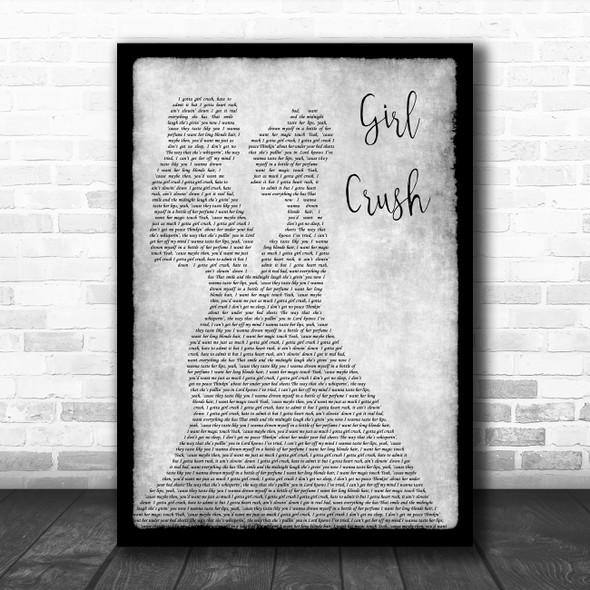 Little Big Town Girl Crush Lesbian Couple Two Ladies Dancing Grey Gift Song Lyric Print