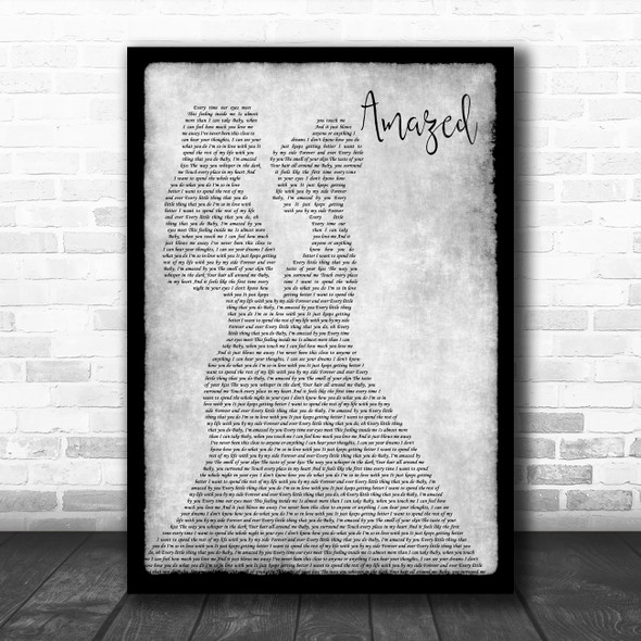 Lonestar Amazed Lesbian Couple Two Ladies Dancing Grey Decorative Gift Song Lyric Print
