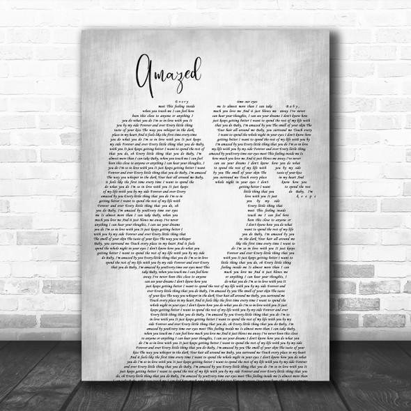 Lonestar Amazed Lesbian Women Gay Brides Couple Wedding Grey Wall Art Song Lyric Print