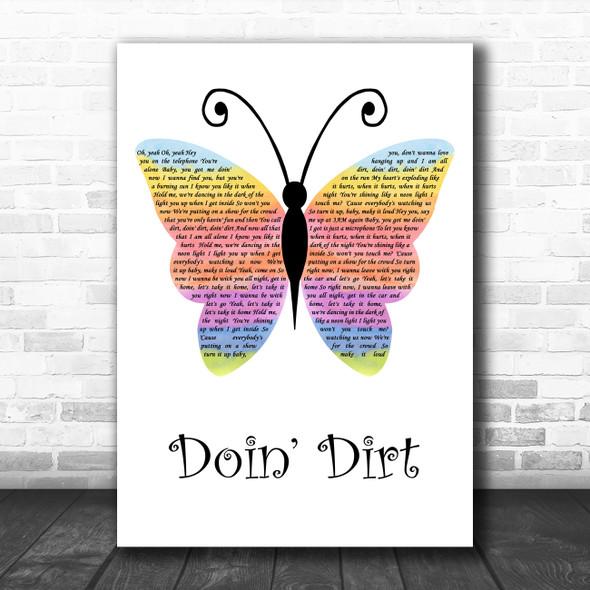 Maroon 5 Doin' Dirt Rainbow Butterfly Decorative Wall Art Gift Song Lyric Print