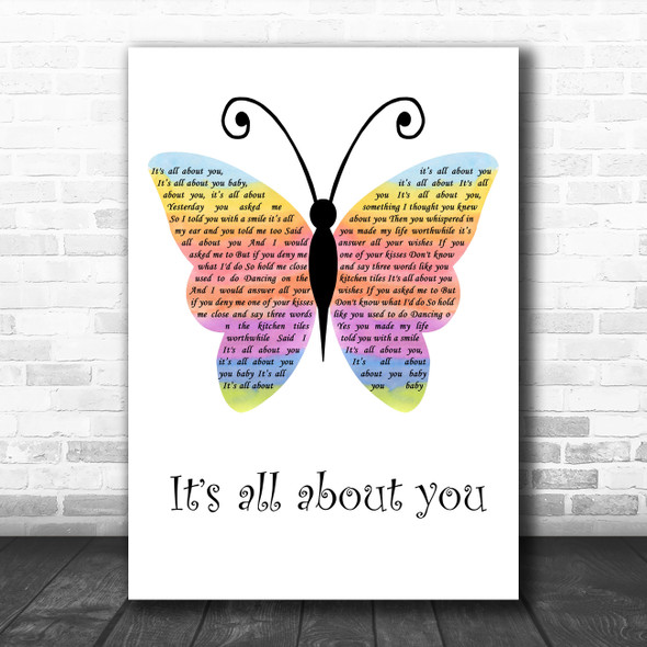 McFly All About You Rainbow Butterfly Decorative Wall Art Gift Song Lyric Print