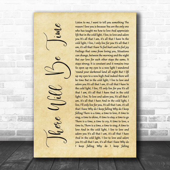 Mumford & Sons and Baaba Maal There Will Be Time Rustic Script Wall Art Song Lyric Print