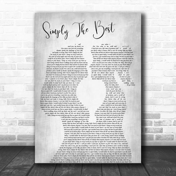 Noah Reid Simply the Best Lesbian Women Gay Brides Couple Wedding Grey Song Lyric Print