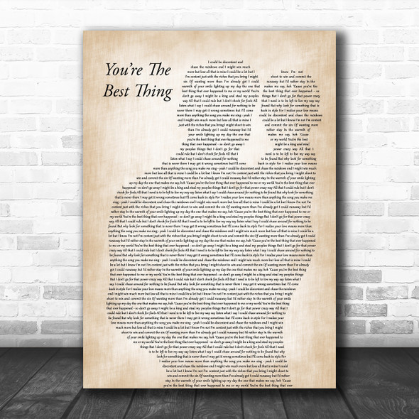 Paul Weller You're The Best Thing Father & Baby Decorative Wall Art Gift Song Lyric Print