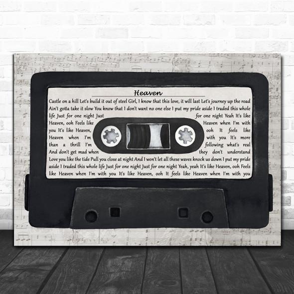 Pink Sweat$ Heaven Music Script Cassette Tape Decorative Wall Art Gift Song Lyric Print