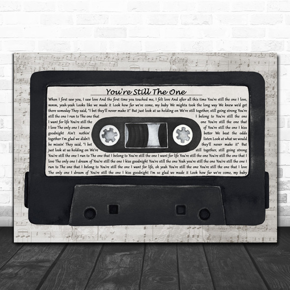 Shania Twain You're Still The One Music Script Cassette Tape Song Lyric Print