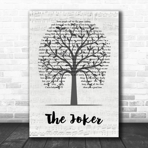 Steve Miller Band The Joker Music Script Tree Decorative Wall Art Gift Song Lyric Print