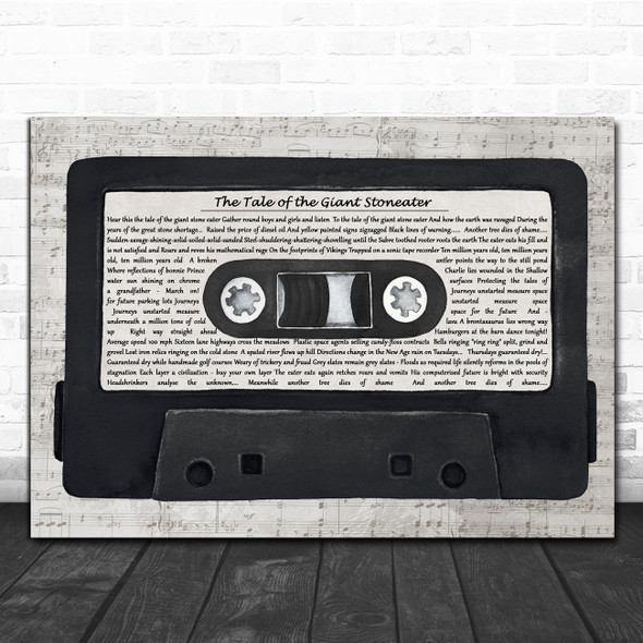 The Sensational Alex Harvey Band The Tale of the Giant Stoneater Music Script Cassette Tape Song Lyric Print