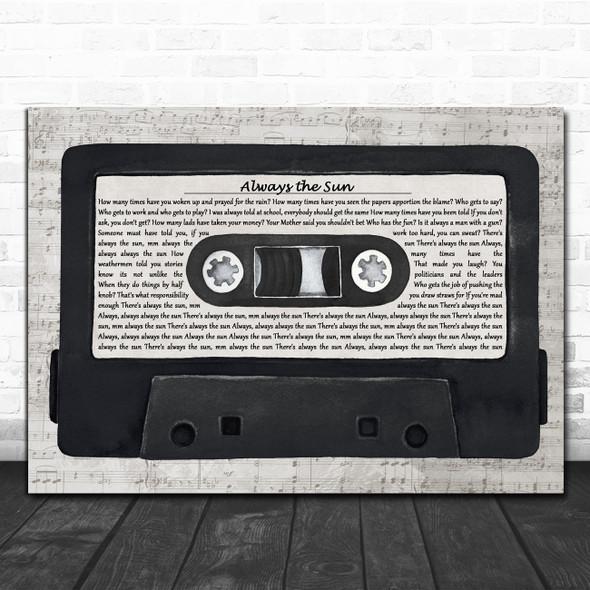 The Stranglers Always the Sun Music Script Cassette Tape Decorative Gift Song Lyric Print