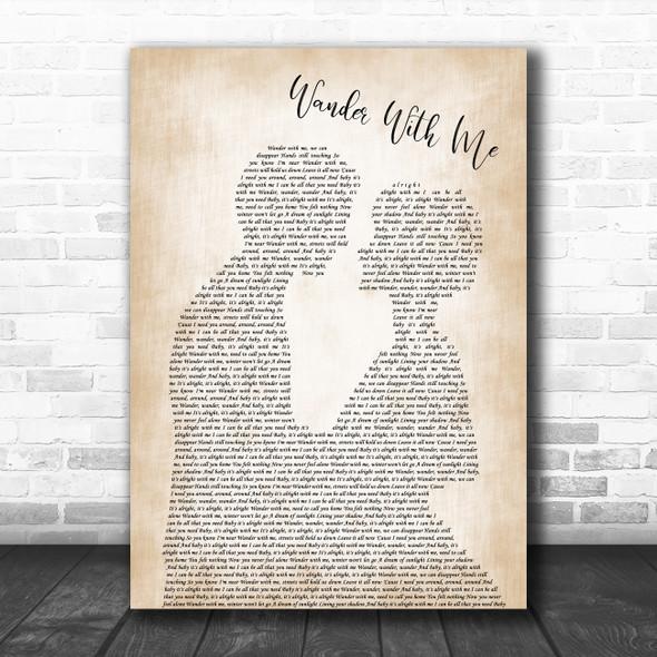 Tom Misch Wander With Me Man Lady Bride Groom Wedding Decorative Gift Song Lyric Print
