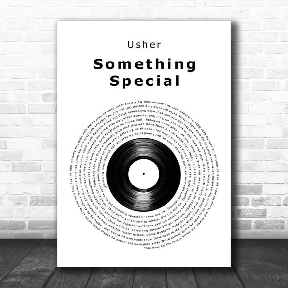 Usher Something Special Vinyl Record Decorative Wall Art Gift Song Lyric Print