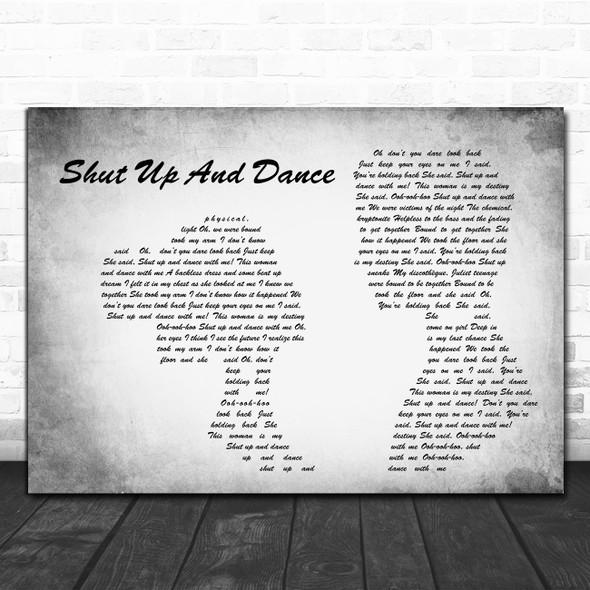 WALK THE MOON Shut Up And Dance Man Lady Couple Grey Decorative Wall Art Gift Song Lyric Print