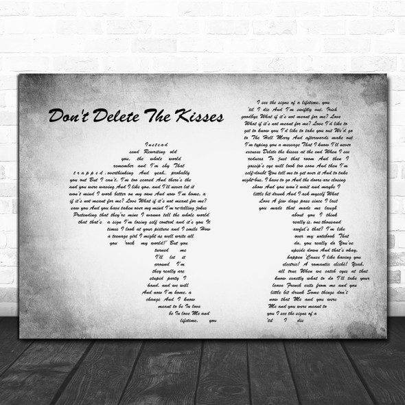 Wolf Alice Don't Delete The Kisses Man Lady Couple Grey Decorative Gift Song Lyric Print