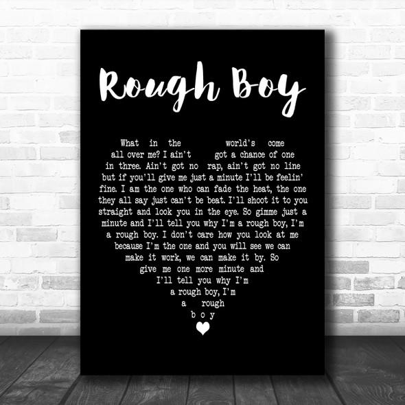 ZZ Top Rough Boy Black Heart Decorative Wall Art Gift Song Lyric Print