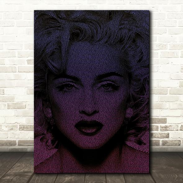 Madonna Like A Virgin Face s Music Song Lyric Wall Art Print