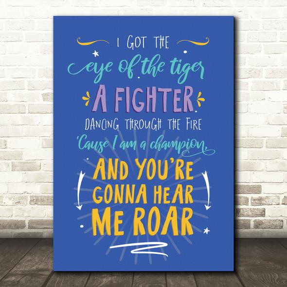 Katy Perry Roar Typography Music Song Lyric Wall Art Print