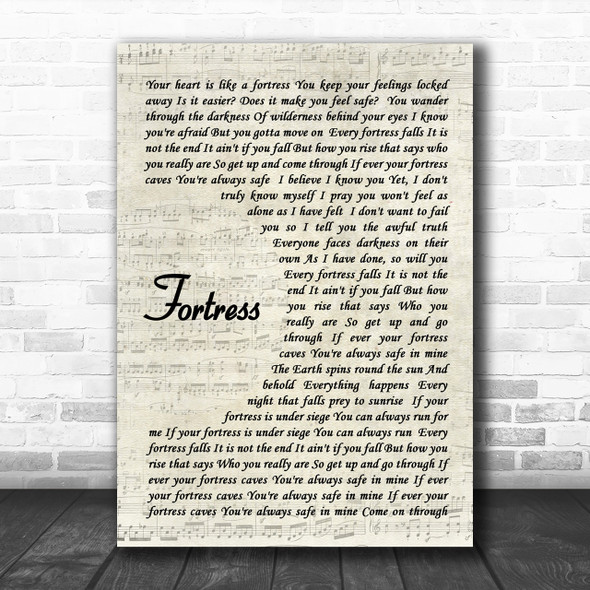 Queens of the Stone Age Fortress Song Lyric Vintage Script Music Wall Art Print