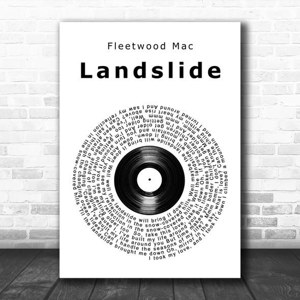 Fleetwood Mac Landslide Vinyl Record Song Lyric Music Wall Art Print