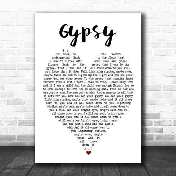 Gypsy Fleetwood Mac Song Lyric Heart Music Wall Art Print