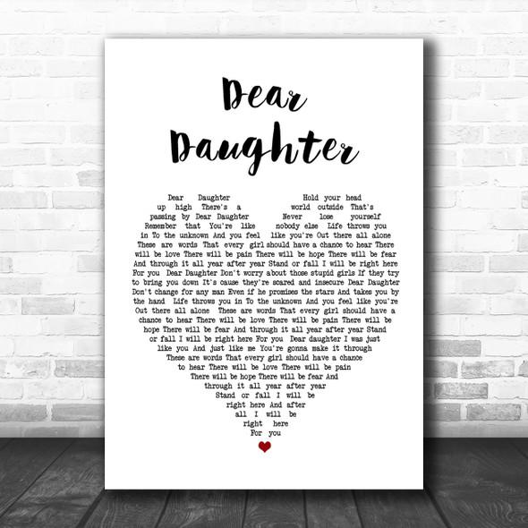 Halestorm Dear Daughter Heart Song Lyric Music Wall Art Print