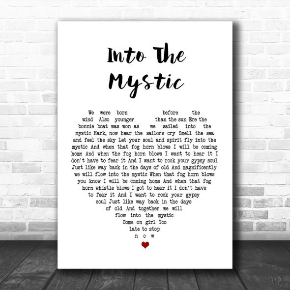 Van Morrison Into The Mystic Heart Song Lyric Music Wall Art Print